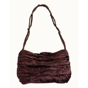 Aubergine Velvet Evening Handbag
