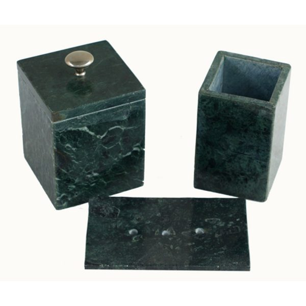 BI-053 Serpentine Marble Bathroom Ensemble. One of Many Beautiful Accessories from Adesso Wholesale.