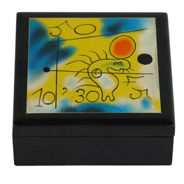 BO-022 Miro Design Lacquer Box - Design B. One of Many Beautiful Accessories from Adesso Wholesale.