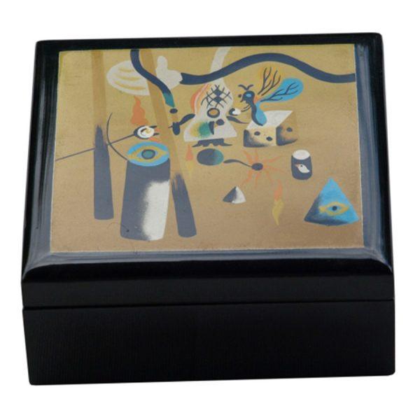 BO-026 Miro Design Lacquer Box - Design F. One of Many Beautiful Accessories from Adesso Wholesale.