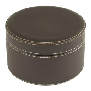 Round Leather Box