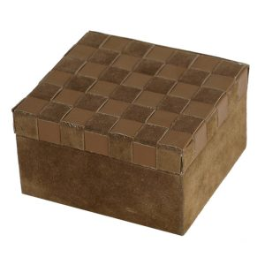 Box With Woven Leather