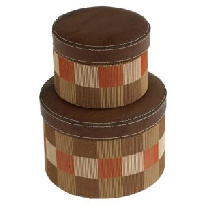 Set of 2 Jute Check Boxes
