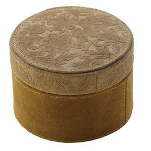 Small Suede Round Box