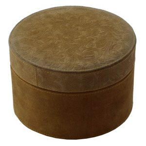 Large Suede Round Box
