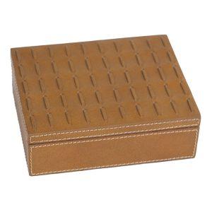Cigar Box With Stitch Accent