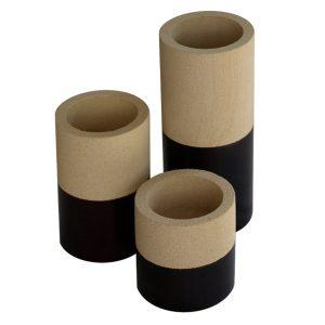 Set of 3 Stone Candleholders