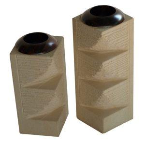 Set of 2 Stone T-Lites