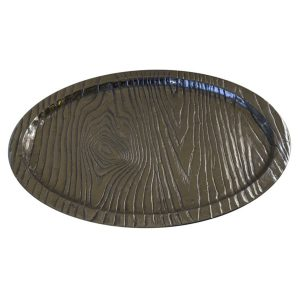 Timber Log Finish Oval Tray/Platter