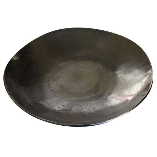DB-528 Rough Nickel Finish Large Free Form Aluminium Platter. One of Many Beautiful Handcrafted and Exclusive Accessories from Adesso Wholesale.