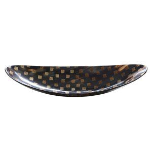 Large Canoe Shape Horn Dish