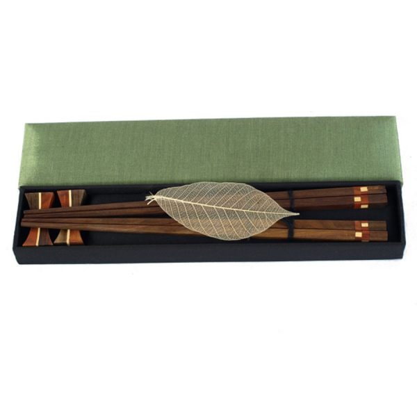 GI-070 Chopstick Set Of Two With Holders And Presented In Silk Box. One of Many Beautiful Exclusive and Luxurious Accessories from Adesso Wholesale.