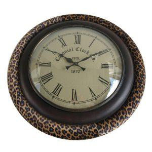 Round Safari Style Clock