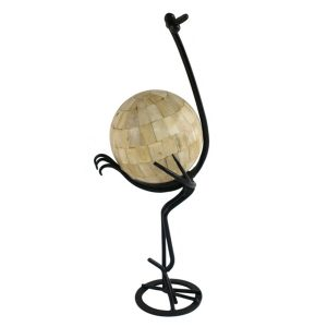 GI-136 Stylised Ostrich Holding White Bone Ball. One of Many Beautiful Handcrafted, Exclusive and Luxurious Accessories from Adesso Wholesale.