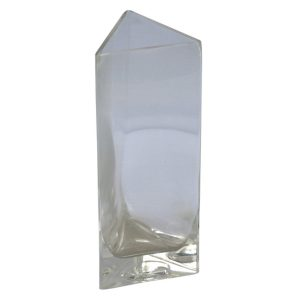 Triangular Glass Vase