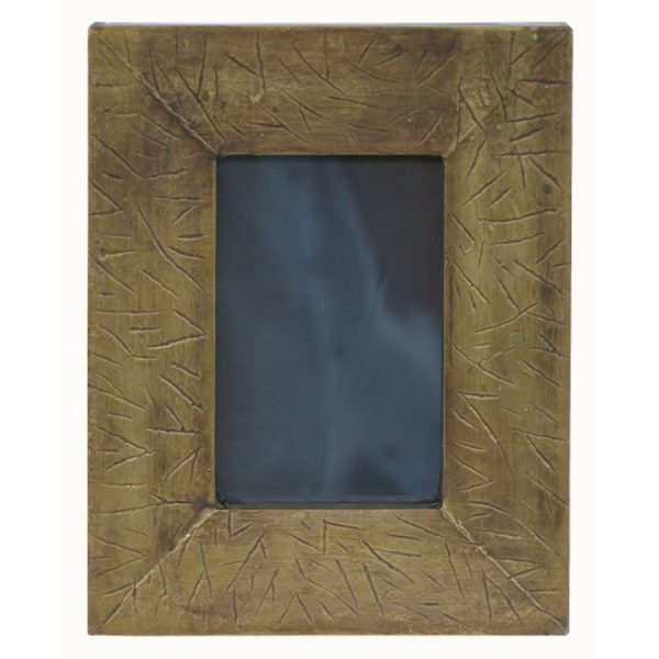 PF-421 Rectangular Metal Covered Photo Frame With Random Root Pattern. One of Many Beautiful Handcrafted and Exclusive Accessories from Adesso Wholesale.