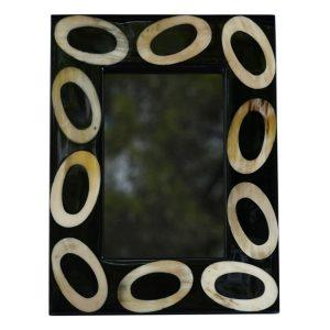 Horn Oval Rings Photo Frame