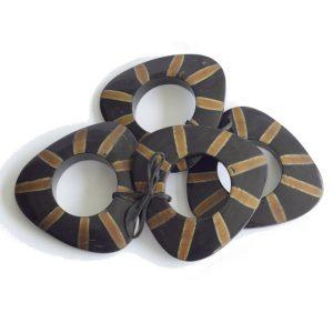 Set of Four Triangular Napkin Rings