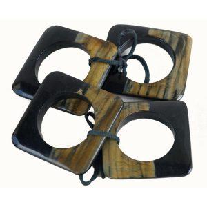 Set of Four Square Napkin Rings