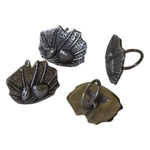 Set of Four Seashell Serviette Rings