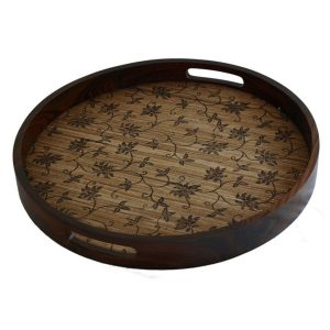 Tray With Floral Motif Lining