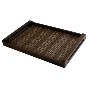 Large Tray With Check Pattern
