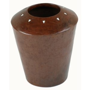 Shell Accent Terracotta Vase