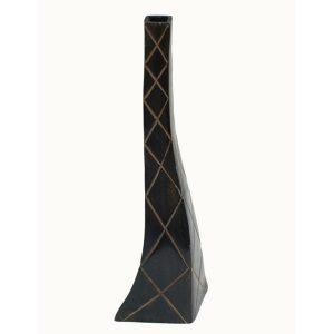 Verdigris Mesh Grooves Vase